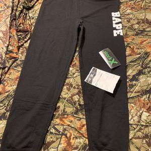 Bape Family Bag Sweatpants Black for Sale in Fort Lauderdale, FL