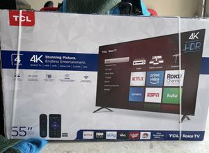 "55"" TcL roku smart 4K led uhd hdr tv for Sale in Perris, CA"
