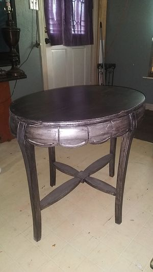 Antique oval table with glass top for Sale in Dallas, TX