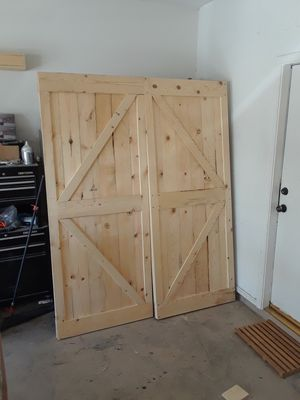 2 38x84 barn doors $160ea or $300 for both hardware not included for Sale in Scottsdale, AZ