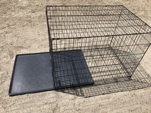 One Door Folding Dog Crate w/ Slide Out Bottom