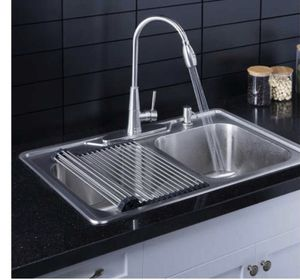 "AFA stainless double bowl 33"" dual mount kitchen sink and faucet combo for Sale in Ontario, CA"