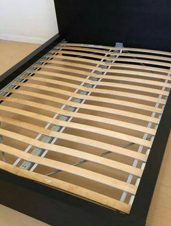 Ikea Dark Brown QUEEN Sz Size Bed Frame Bedframe (NO MATTRESS) for Sale in Monterey Park,  CA