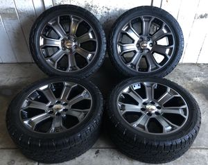 "22"" Chevy Tahoe Suburban Silverado Wheels Rims Tires 285/45/22 NEW for Sale in Santa Ana, CA"