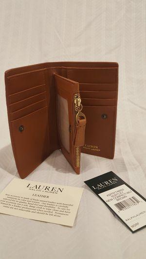 Lauren Ralph Lauren Huntley New compact Brown wallet for Sale in Vienna, VA