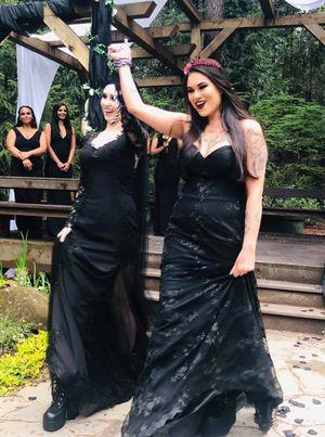Black wedding dress/prom dress for Sale in Portland, OR