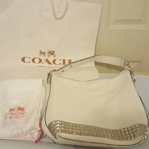 Authentic Coach duffle with silver studs for Sale in Washington, DC