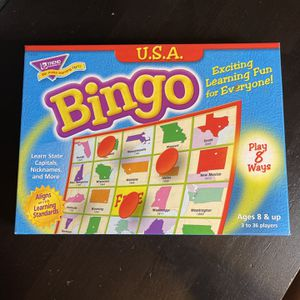 U.S.A. Bingo Game Learn State Capitals Nicknames And More NEW for Sale in Fort Lauderdale, FL