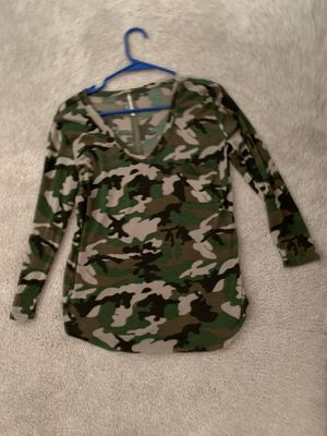 Camo V-Neck shirt for Sale in Saugus, MA