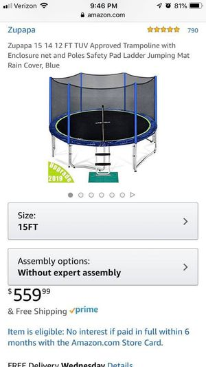 Excellent condition 15ft trampoline with enclosure for Sale in Brentwood, CA