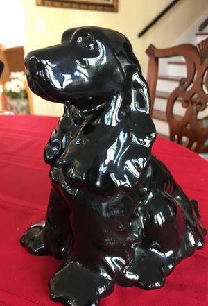 Black dog ceramic 8 1/2 inch tall figurine for Sale in West Palm Beach, FL