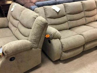 Tulen Gray Reclining Living Room Set $39 down payment only / for Sale in Arlington,  VA
