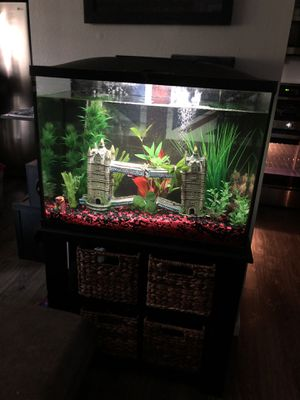Fish tank and stand 39 gallon for Sale in Long Beach, CA