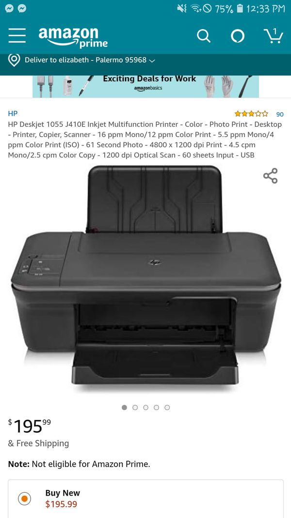 hp deskjet 1050 all in one j410 series printer