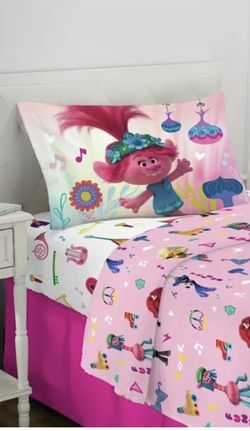 Trolls World Tour 3 Piece Twin Sheet Set Kids Bedding for Sale in Mission Viejo,  CA