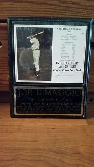 Joe DiaMaggio induction plaque for Sale in West Palm Beach, FL