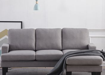 Brand New Sectional Light Grey Sofa Fabric for Sale in Ontario,  CA
