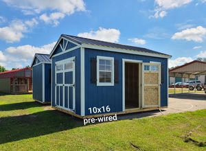 """Utility shed, pre-wired, 10x16. With 8ft walls & 70"""" doorway for Sale in Greenville, SC"""