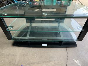 Glass Flat TV Stand and Entertainment Console for Sale in Buffalo Grove, IL