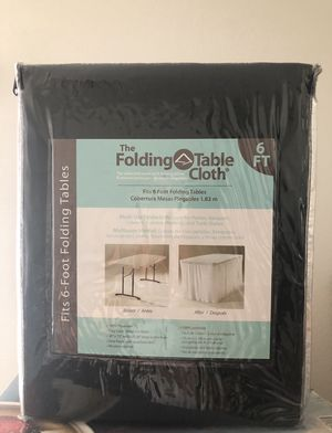 "Folding Table Cloth 6ft-Black-""New "" *NOT THE TABLE ONLY TABLE CLOTH* (FIRM PRICE) for Sale in Los Angeles, CA"