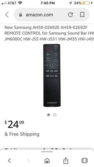 Samsung AH59-02692E AH59-02692F REMOTE CONTROL for Samsung Sound Bar for Sale in Fresno, CA