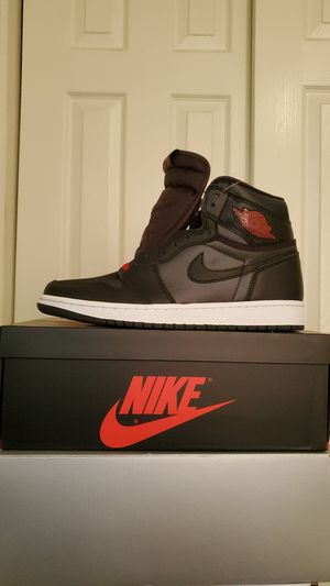 Air Jordan 1 Retro High OG Black Satin Gym Red Sz 9 for Sale in Hayward, CA