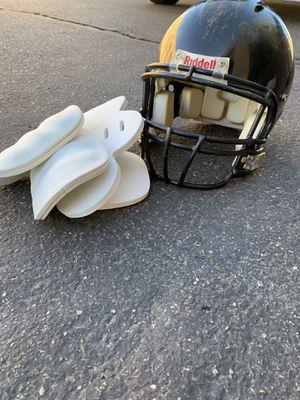 Football helmet & pads for Sale in Fort McDowell, AZ
