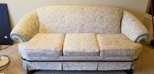 Free sofa, clean upholstery, good condition. Downsizing. for Sale in Lansing, MI