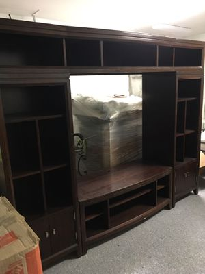 Large Solid Dark Wood Entertainment Center for Sale in Corpus Christi, TX