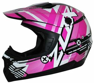 Dirt Bike, motocross helmets, pink black DOT ECE approved, lightweight, for Sale in Coronado, CA