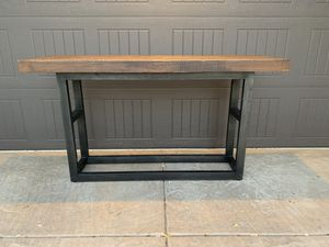 """Pottery Barn Griffin 68"""" reclaimed wood console table for Sale in El Dorado Hills, CA"""