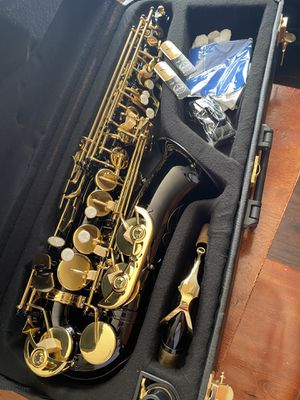 Beautiful Black Alto Saxophone with New Set of Reeds Excellent Condition $350 Firm for Sale in Arlington, TX