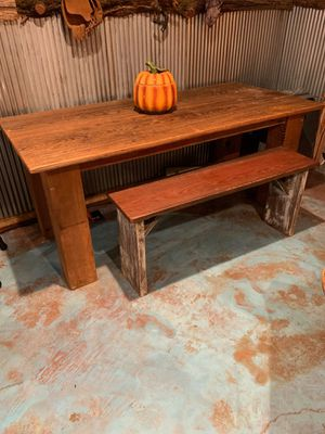 Table and bench for Sale in Byram, MS