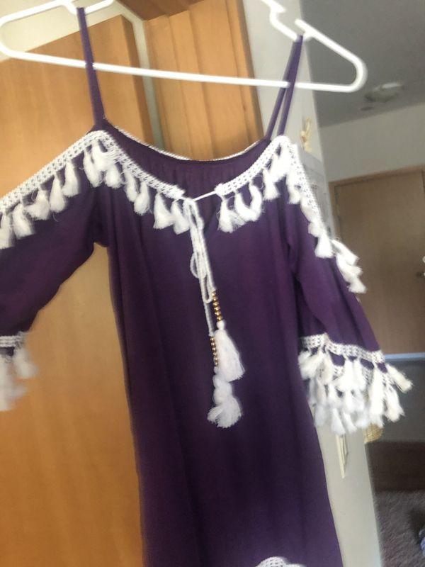 Women's fringed mini dress