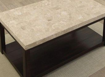 Coffee Table In Dark Walnut And Ivory for Sale in Ontario,  CA