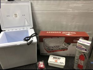 Camping Kit (Stove, Mini Cooler, First Aid, Snake Bite Kit, Fire Extinguisher) Safety - Survival - Supplies for Sale in Corona, CA