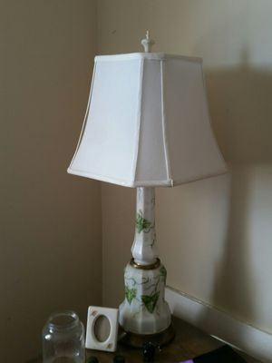 antique milk glass table lamp for Sale in Rochelle Park, NJ