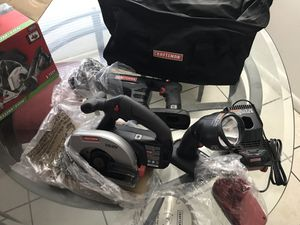 Craftsman Circular Saw, Reciprocating Saw, work flashlight, charger, battery and tool bag. for Sale in Pompano Beach, FL