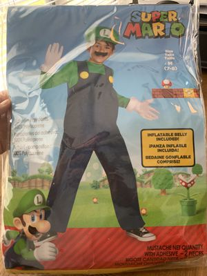 Super Mario, Luigi costume size 7-8 for Sale in Mt. Juliet, TN