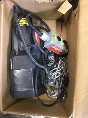 Dayton brand new 110 volt winch for Sale in Hemet, CA