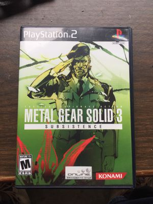 PS2 Metal Gear Solid 3 for Sale in Everett, WA