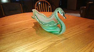Antique Green glass Swan for Sale in Augusta, KS