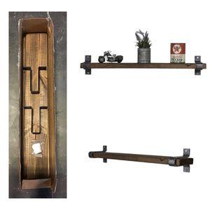 Industrial Grace Floating Shelf, Dark Walnut for Sale in Stafford, TX