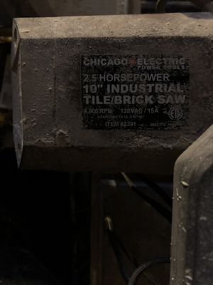 """Chicago Electric Power Tools: 10"""" Industrial Tile/Brick Saw for Sale in Bellevue, WA"""