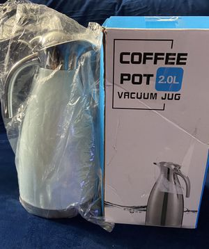 Stainless Steel Coffee Pot 2.0L Vacuum Jug Double Wall Insulation For Hot/Cold for Sale in Oakland Park, FL