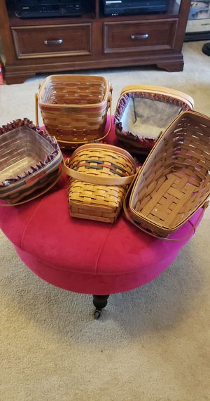 5 Limited Original Longaberger Baskets for Sale in Oviedo, FL