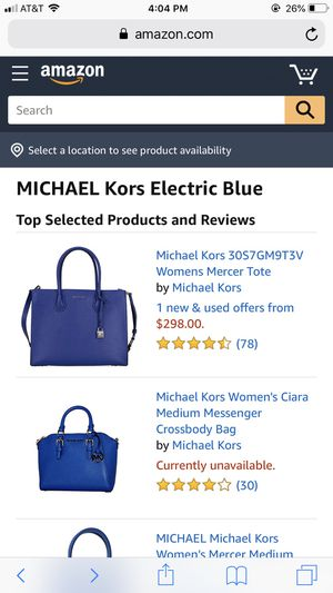 Micheal Kors blue bag authentic for Sale in Lansdowne, PA