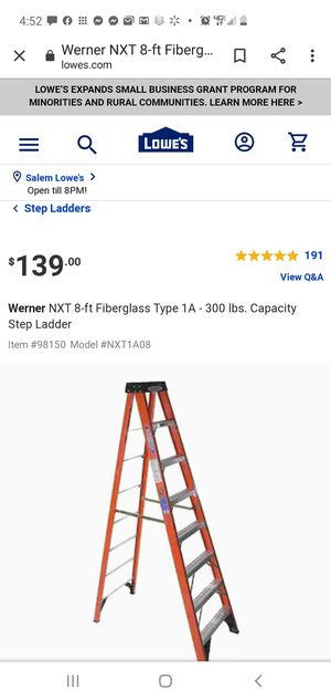 8 foot fiberglass ladder for Sale in Gresham, OR
