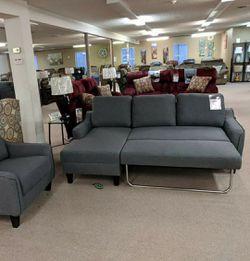 Jarreau Gray Sofa Chaise Sleeper byAshley for Sale in Laurel,  MD