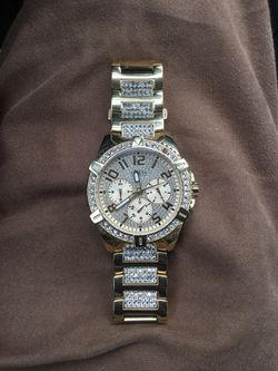Guess Gold Diamond Encrusted Watch for Sale in Valley Grande,  AL